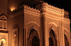 Al Noor mosque. Illuminated at night in Sharjah, United Arab Emirates Stock Photography