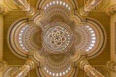 Al Noor Mosque en Sharja, UAE fotografía de archivo libre de regalías