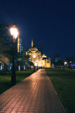 Al Noor Mosque at night. The Al Noor Mosque in the night in Sharjah, United Arab Emirates Stock Photos