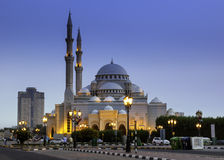 Al Noor Mosque. The Al Noor Mosque is a mosque in Sharjah. It is located on the Khaled lagoon at the Buhaira Corniche Royalty Free Stock Images