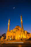 Al Noor Mosque in Sharjah at night Royalty Free Stock Photos