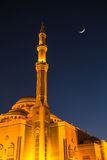 Al Noor Mosque in Sharjah at night Royalty Free Stock Photos
