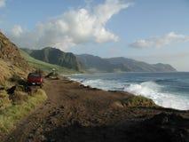 Al noroeste de Oahu, punto de Hawaii - de Ka'ena Fotos de archivo libres de regalías