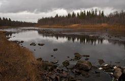 Al norte de Russia.Rivers. Imagen de archivo
