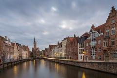 Al norte del Markt, Brujas, Bélgica Imagen de archivo libre de regalías
