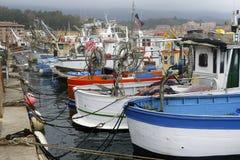Al Oporto del ormeggiate de Pesca de Barche DA Imagen de archivo libre de regalías