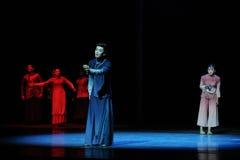 Al oud en recent de wrok-derde handeling van de gebeurtenissen van dans drama-Shawan van het verleden stock foto