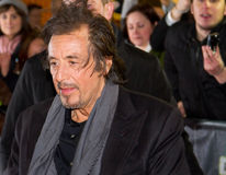 Al Pacino in Dublin. DUBLIN, IRELAND - FEBRUARY 20: Al Pacino attend at premiere of his Wilde Salome movie in Dublin Savoy Cinema Stock Images