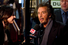 Al Pacino interviewé par Lisa Cannon Photo libre de droits