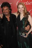 Al Pacino, Jessica Chastain. Al Pacino and Jessica Chastain  at the 23rd Annual Palm Springs International Film Festival Awards Gala, Palm Springs Convention Royalty Free Stock Photography