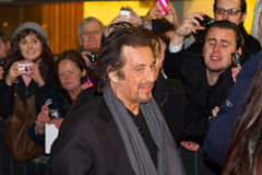Al Pacino on premiere of his movie in Dublin. DUBLIN, IRELAND - FEBRUARY 20: Al Pacino attend at premiere of his Wilde Salome movie Royalty Free Stock Images