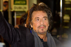 Al Pacino s'occupent à son film à Dublin Photos stock