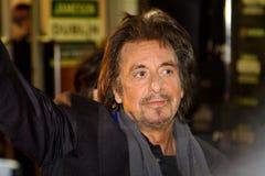 Al Pacino s'occupent à son film à Dublin Photos stock