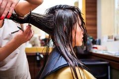 Al parrucchiere Fotografia Stock