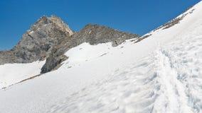 Al passo di montagna Fotografia Stock