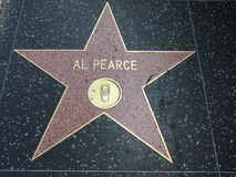 Al Pearce star in hollywood Royalty Free Stock Photo