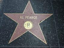 Al Pearce-ster in hollywood Royalty-vrije Stock Foto