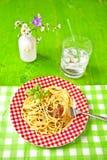 Al Pesto van de spaghetti Royalty-vrije Stock Foto