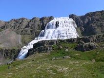 Al piede del ` di Dynjandi del ` della cascata sull'Islanda Immagine Stock Libera da Diritti