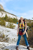 Al piede della montagna Fotografia Stock Libera da Diritti