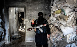 Al - qaeda i Syrien Arkivbilder