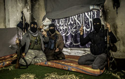 Al-Qaida in Siria Immagine Stock