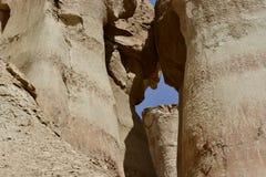 Al Qarah Mountain impressionnant en Arabie Saoudite, son plein des monuments et de l'histoire images libres de droits