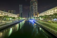 Al Qasba - Shajah, Emirati Arabi Uniti Fotografia Stock