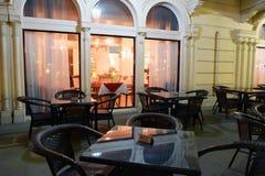 Al Qasba, Sharjah. Restaurant/Cafe at Al Qasba in Sharjah, United Arab Emirates Royalty Free Stock Images