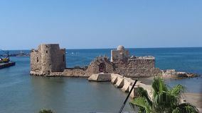 Al-Qualaa saida lebanon castle. Saida lebanon southlebanon stock image