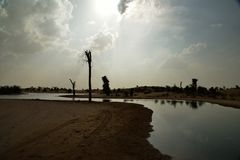 Al Qudra Lakes, Dubaï photographie stock libre de droits