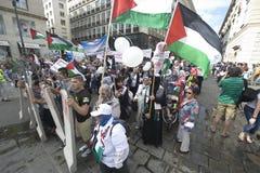Al Quds rally 2014 in Vienna Royalty Free Stock Photos