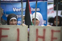 Al Quds rally 2014 in Vienna Stock Images