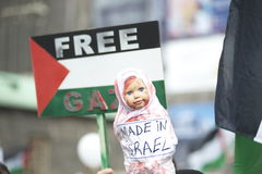 Al Quds rally 2014 in Vienna. Against the war in Gaza on 26.07.2014 Stock Image