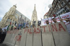 Al Quds rally 2014 in Vienna. Against the war in Gaza on 26.07.2014 Royalty Free Stock Photography