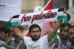 Al Quds rally 2014 in Vienna Royalty Free Stock Image