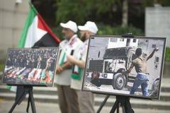 Al Quds wiec 2014 w Wiedeń obraz stock