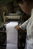 Al Quran Braille Maker in Indonesië Royalty-vrije Stock Afbeeldingen