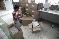 Al Quran Braille Maker in Indonesië Royalty-vrije Stock Afbeelding