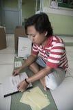 Al Quran Braille Maker in Indonesië Royalty-vrije Stock Foto