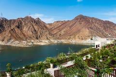 Al Rafisah Dam em Khor Fakkan em Emiratos Árabes Unidos foto de stock royalty free