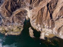 Al Rafisah Dam en Khor Fakkan en los United Arab Emirates imagen de archivo libre de regalías