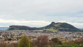 Al rallentatore del tempo di inverno a Edimburgo video d archivio