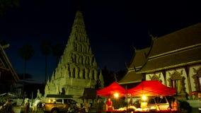 Al rallentatore della pagoda di Chedi Liem video d archivio