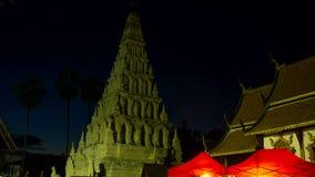 Al rallentatore della pagoda di Chedi Liem stock footage