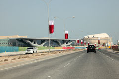 Al Rayyan Road in Doha, Qatar Royalty Free Stock Photography