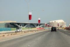 Al Rayyan Road in Doha, Qatar Royalty Free Stock Photography