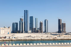 Al Reem Island in Abu Dhabi Royalty Free Stock Photo