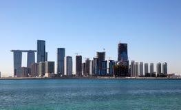Al Reem Island en Abu Dhabi foto de archivo libre de regalías