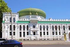 Al-Salam Mosque och den arabiska kulturella mitten lokaliseras i Odessa, Ukraina Arkivfoto